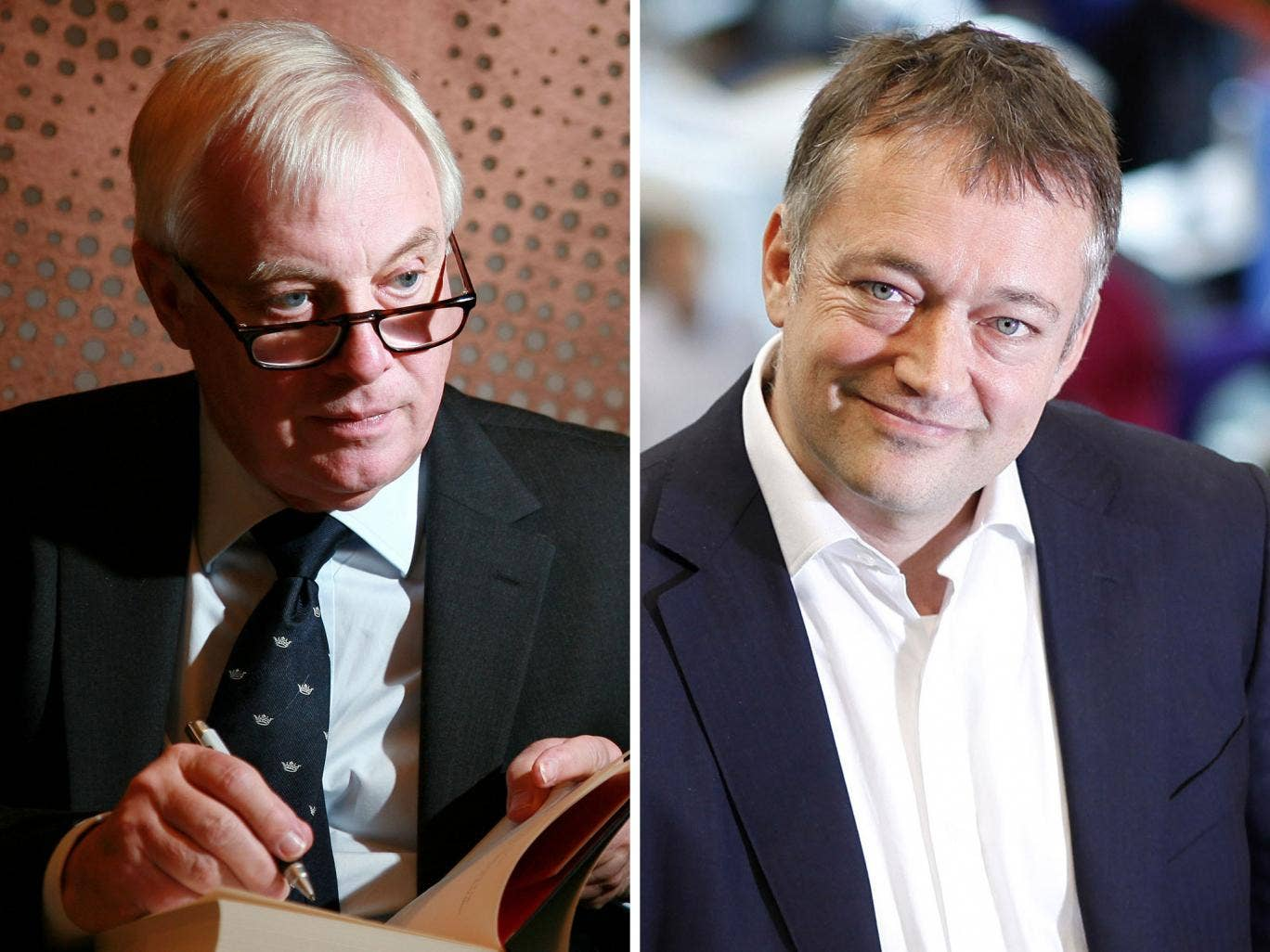 BBC Trust chairman Lord Patten, left; ex-Newsnight editor Peter Rippon