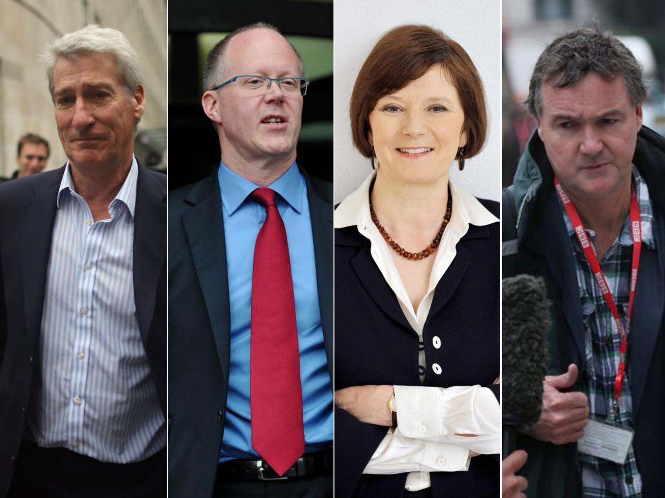 Jeremy Paxman, George Entwistle, Helen Boaden and Meiron Jones