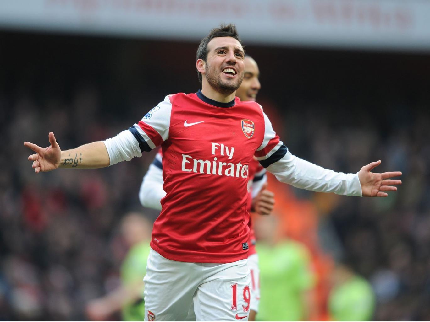 Sant Cazorla opened the scoring for Arsenal