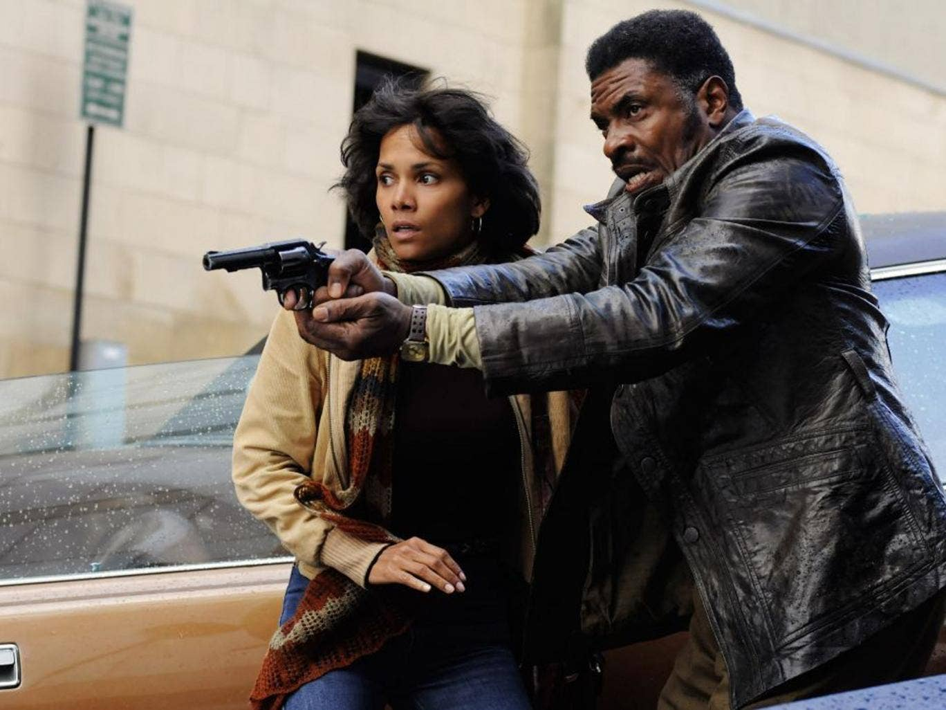 Halle Berry and David Keith tustle with the plot in 'Cloud Atlas'