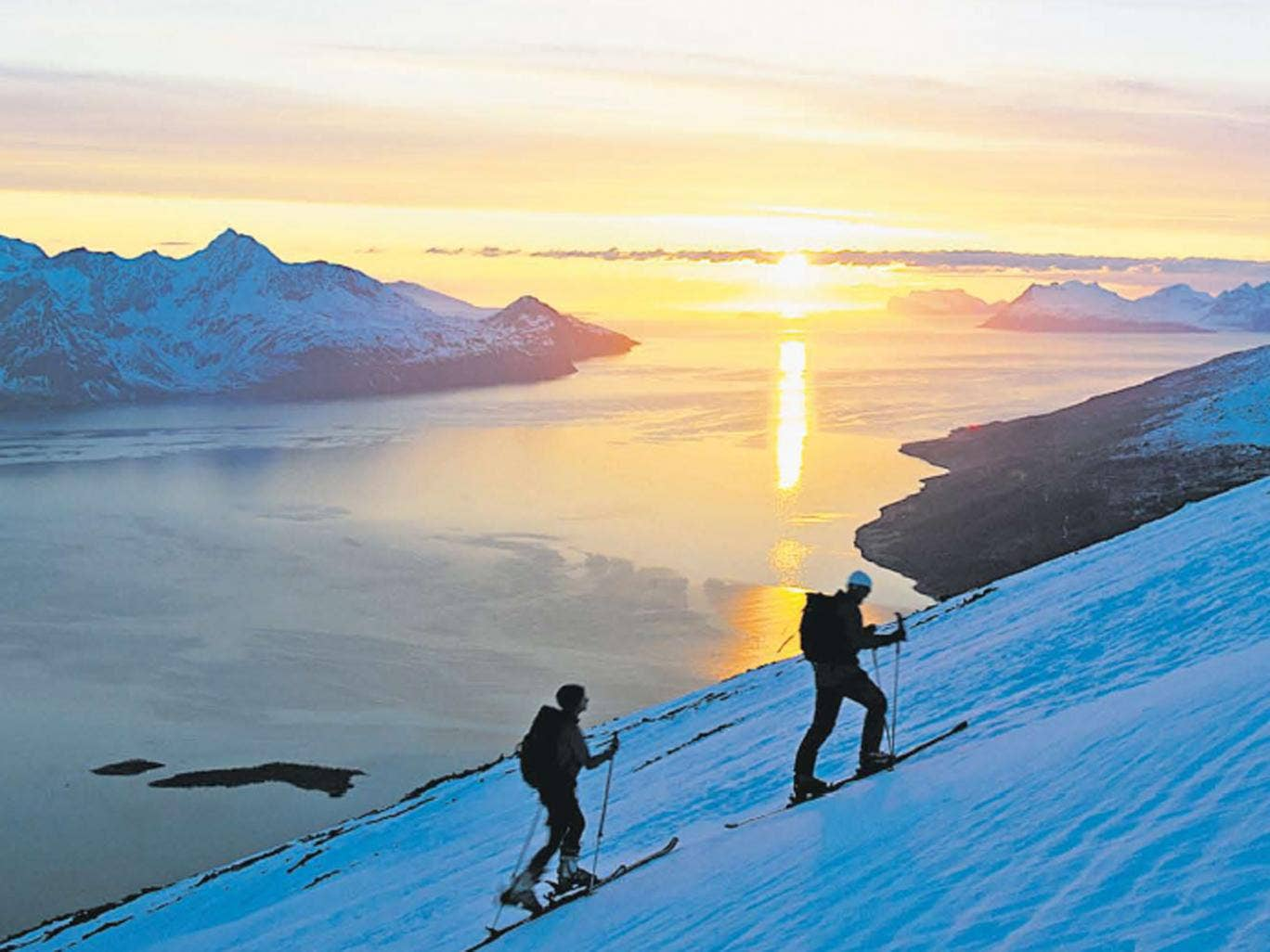 Up and away: Skiing close to Norway's fjords