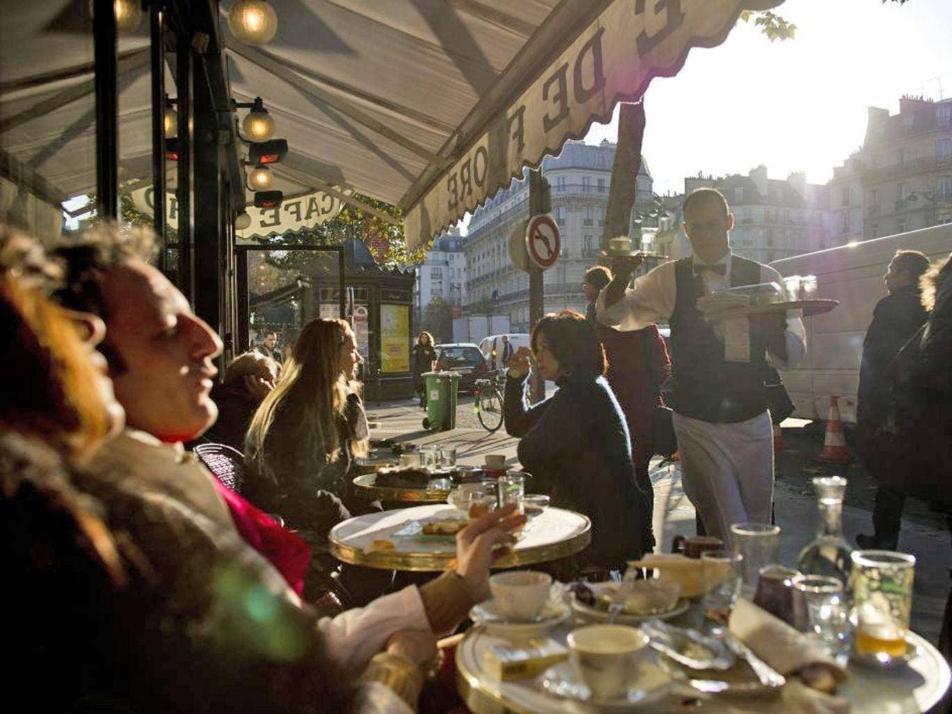 Café de Flore in Saint-Germain, where people come for a taste of Paris's literary past