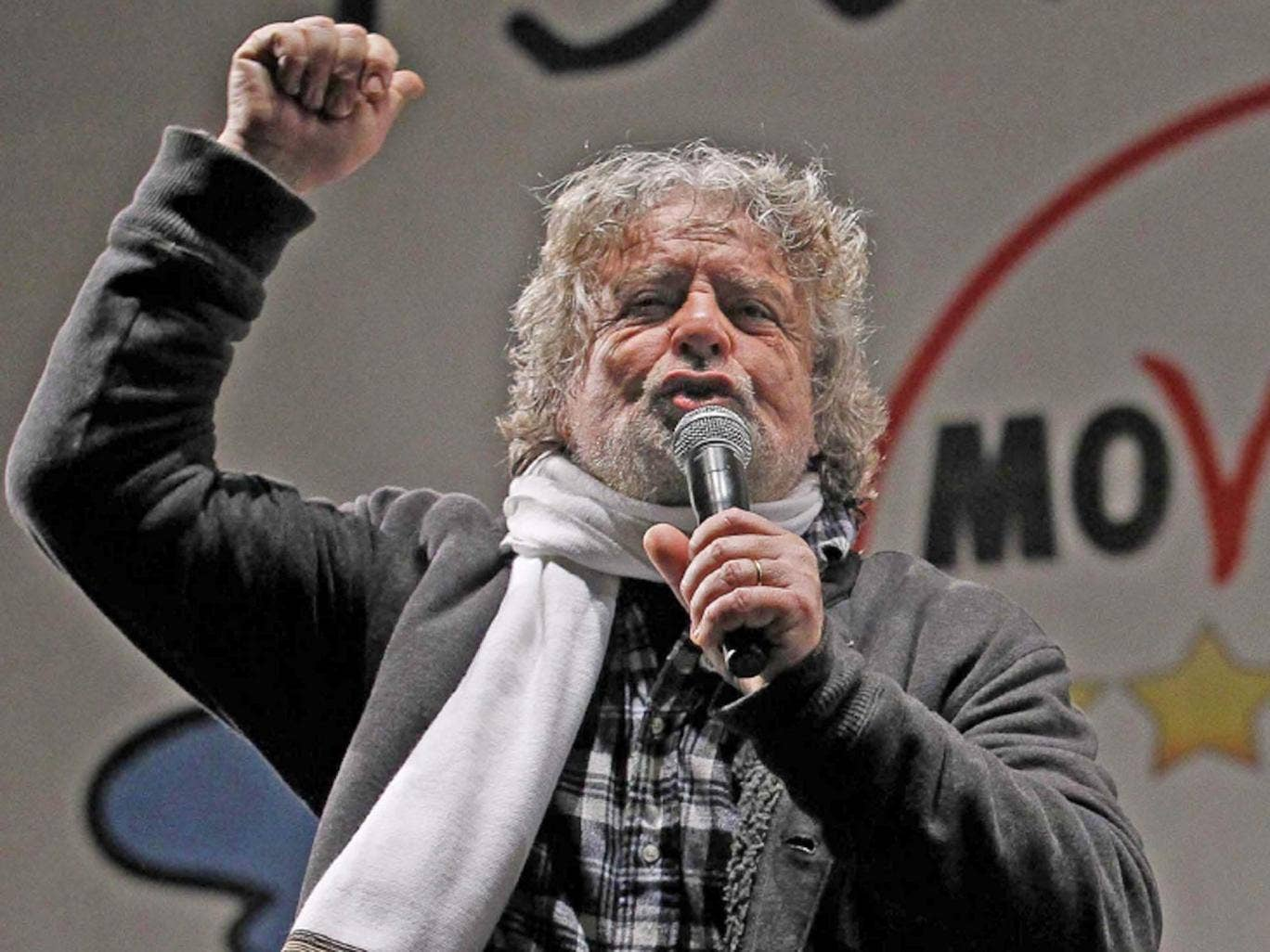 Beppe Grilloa,  a charismatic 64-year-old comedian from Genoa whose anti-political non-party, the Five-Star Movement, has come roaring