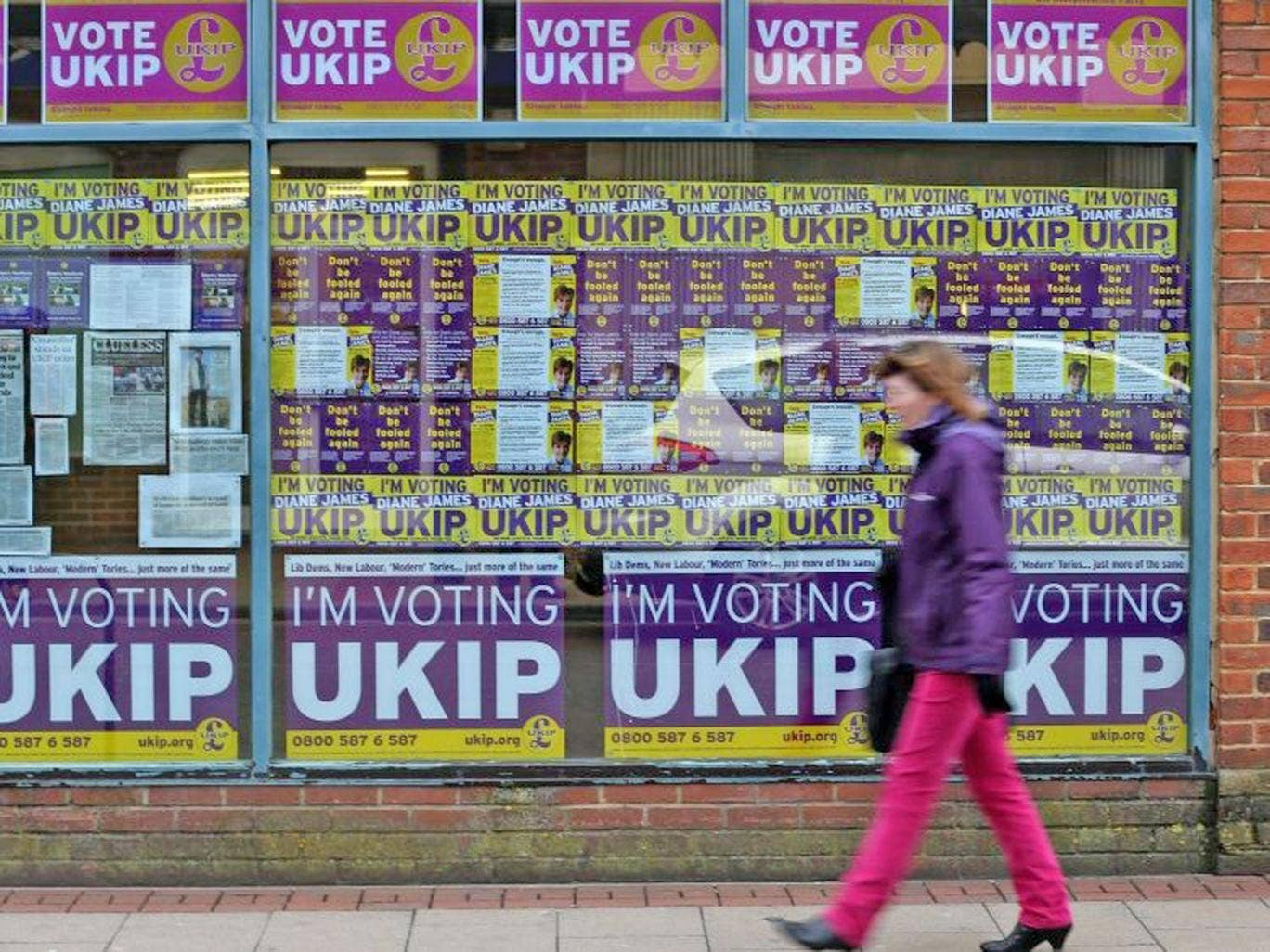 Ukip's candidate is currently in third place, but right behind the Tories