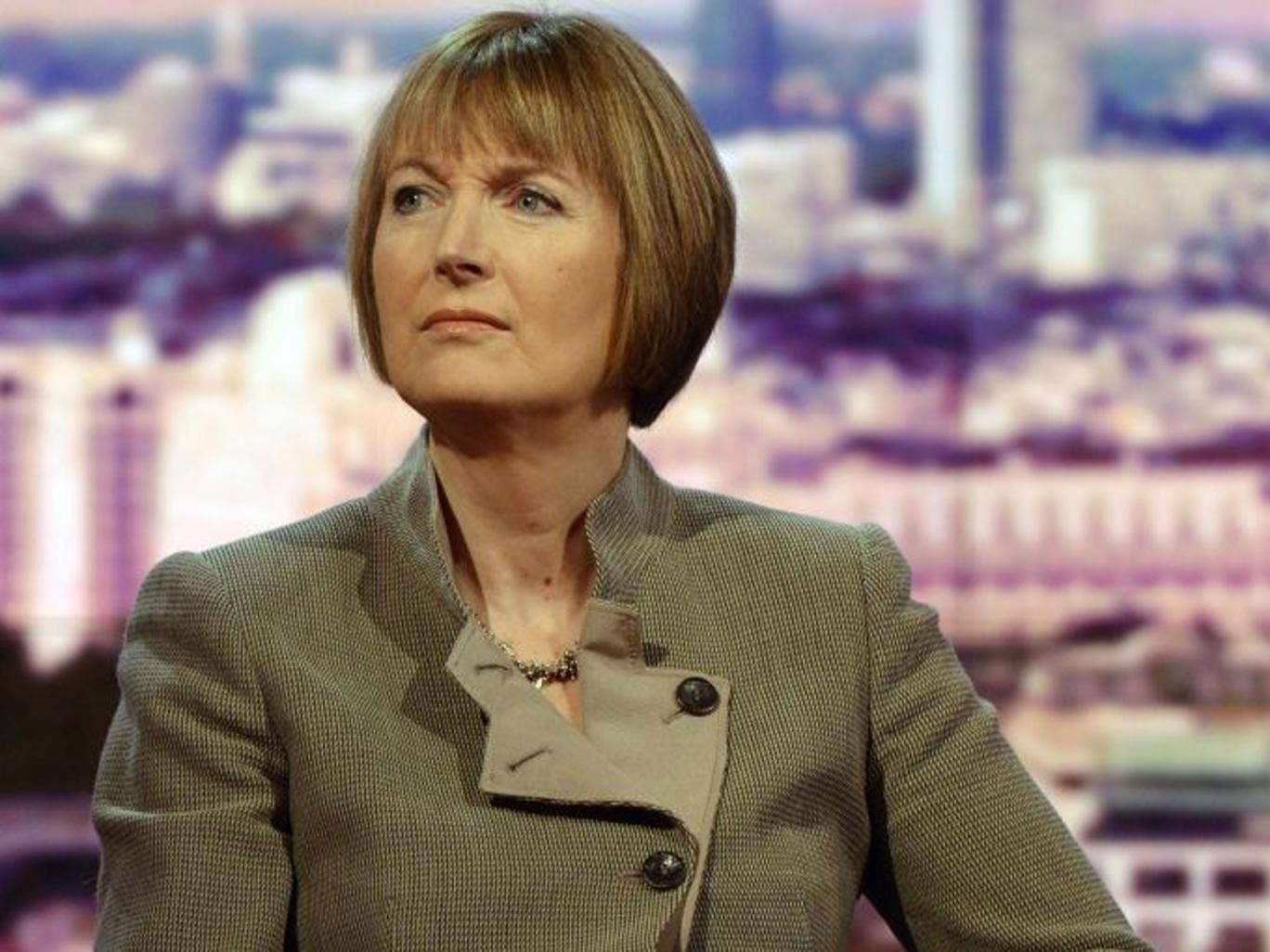 Shadow Deputy Prime Minister and Shadow Culture Secretary Harriet Harman appearing on the BBC1's The Andrew Marr Show