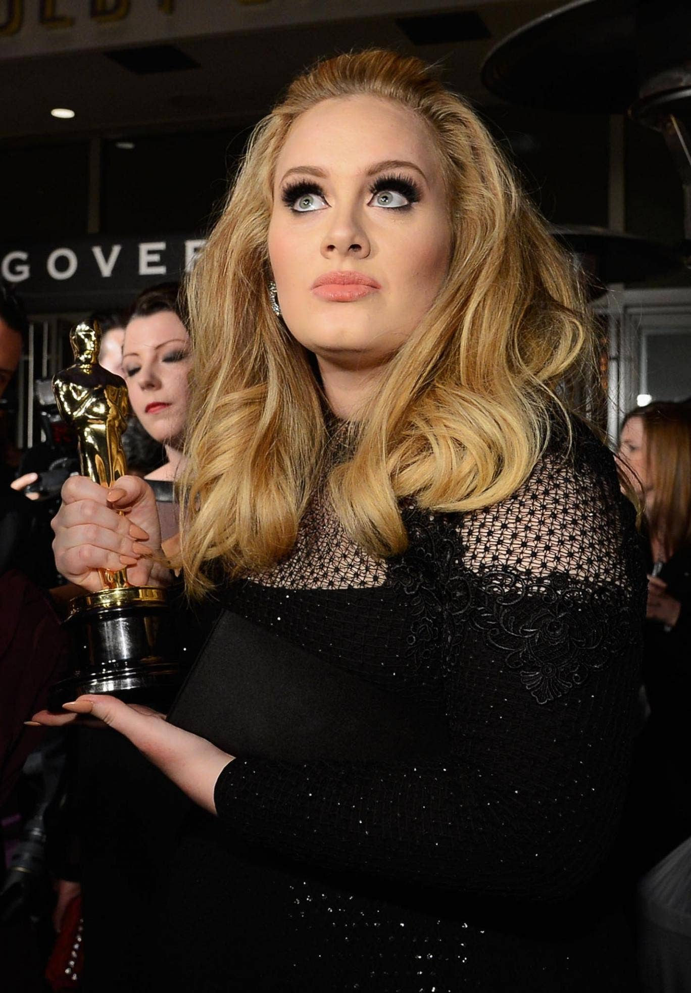 Singer Adele, winner of the Best Original Song award for 'Skyfall,' attends the Oscars Governors Ball at Hollywood & Highland Center on February 24, 2013 in Hollywood