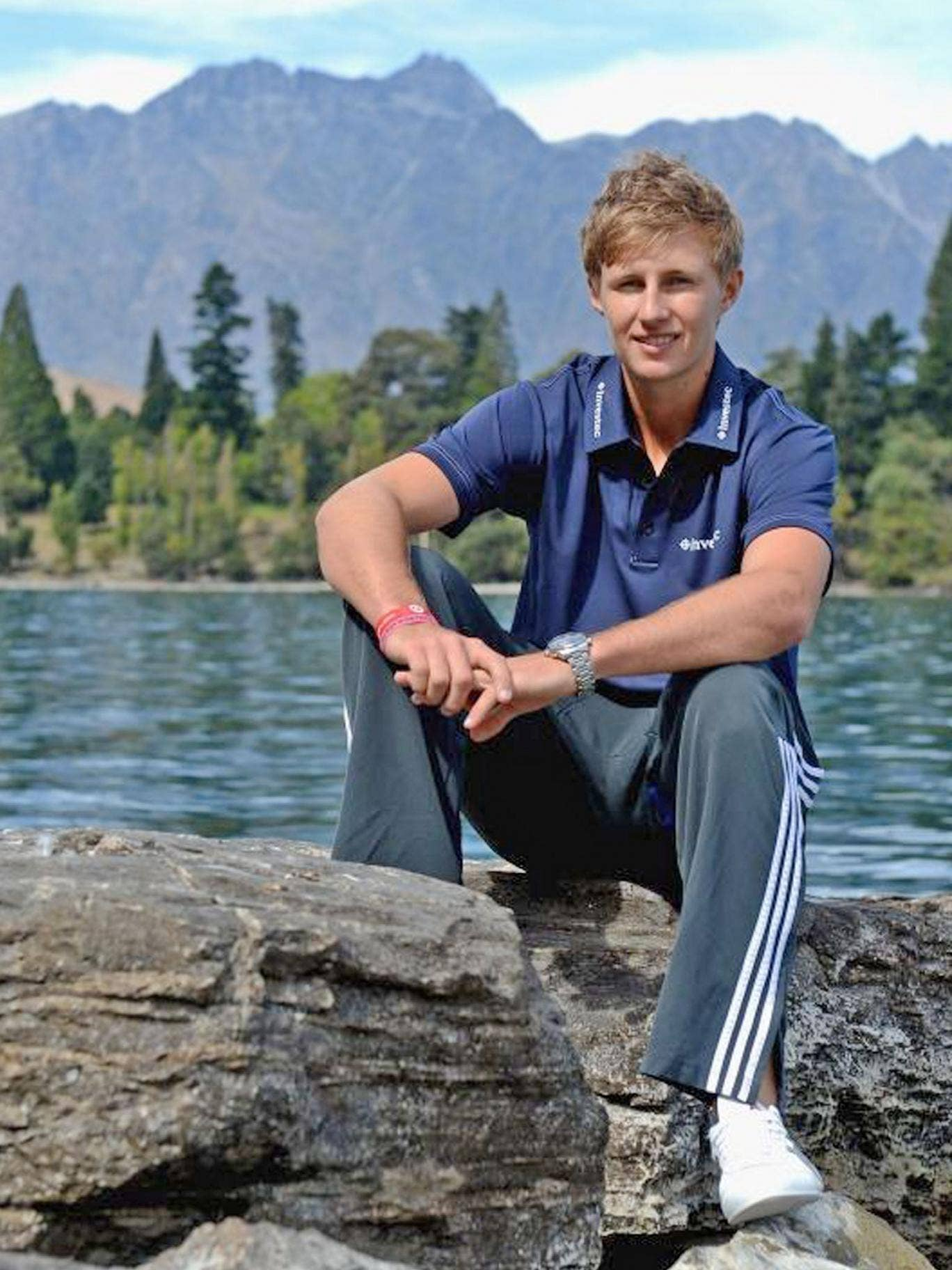 Joe Root at the Remarkables mountain range in Queenstown