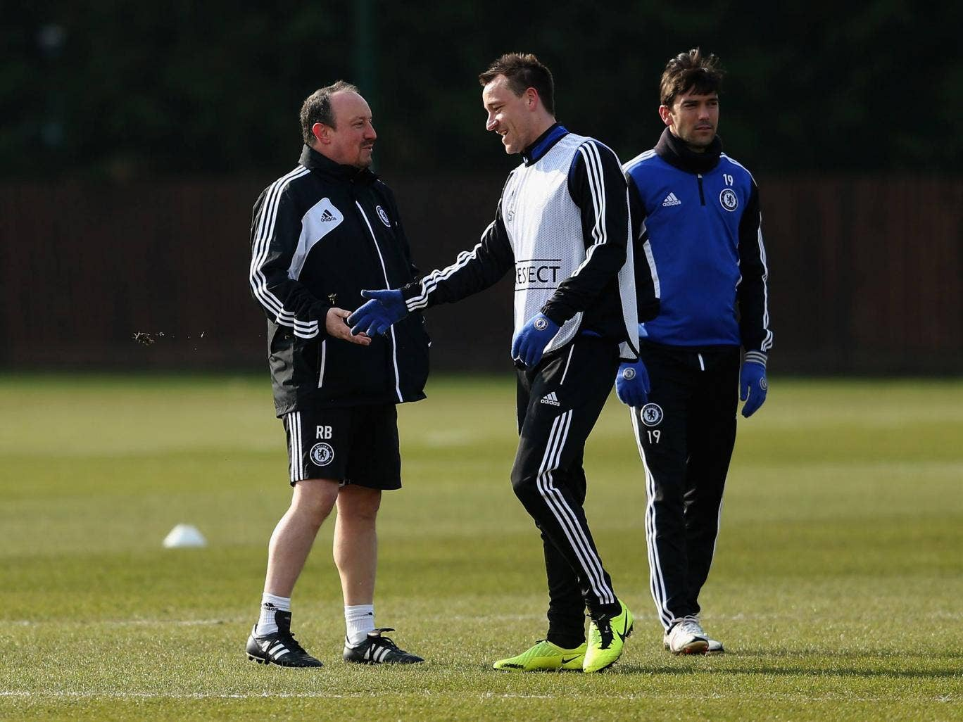John Terry and Rafael Benitez