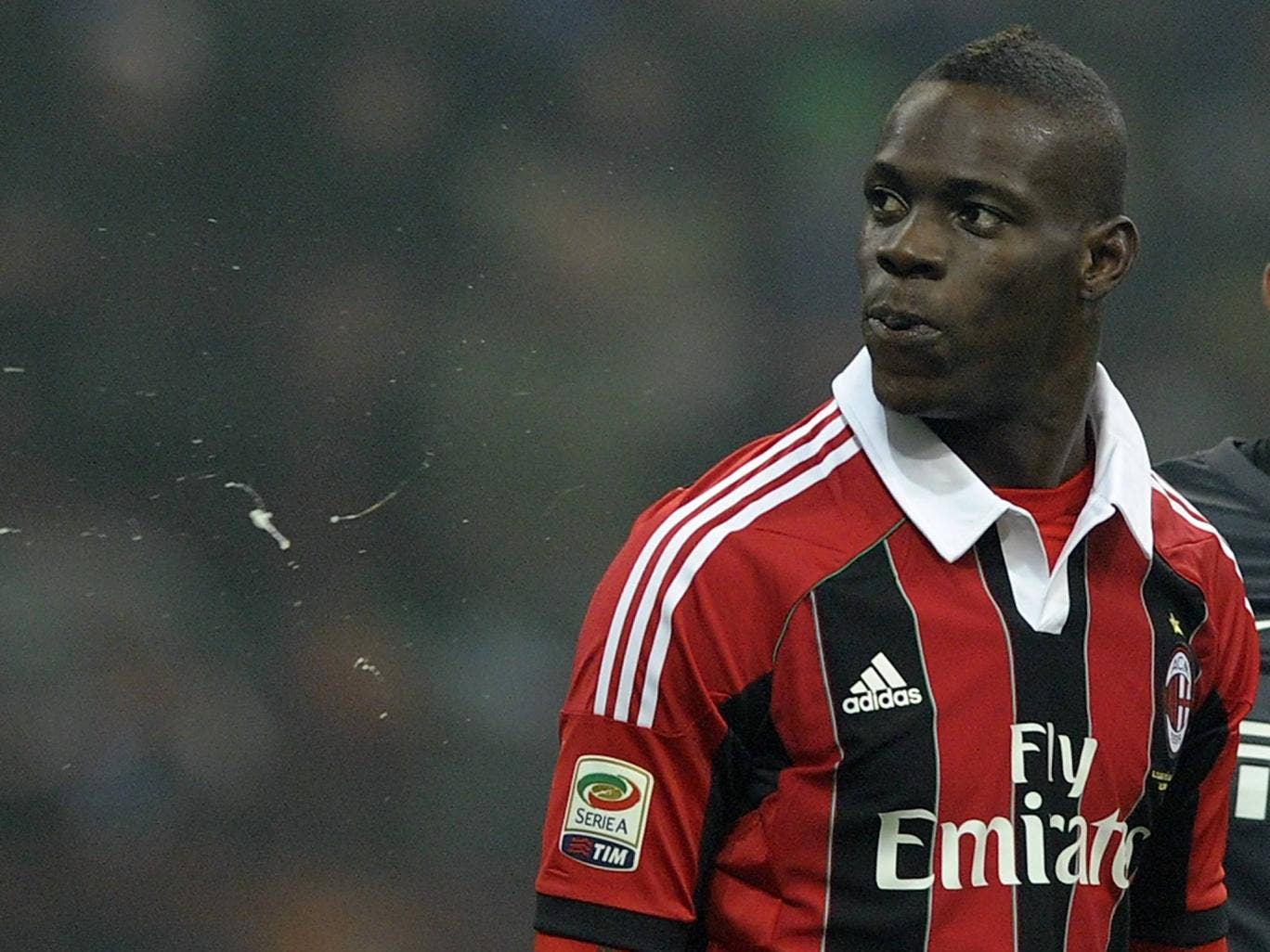 Mario Balotelli pictured during the Milan derby