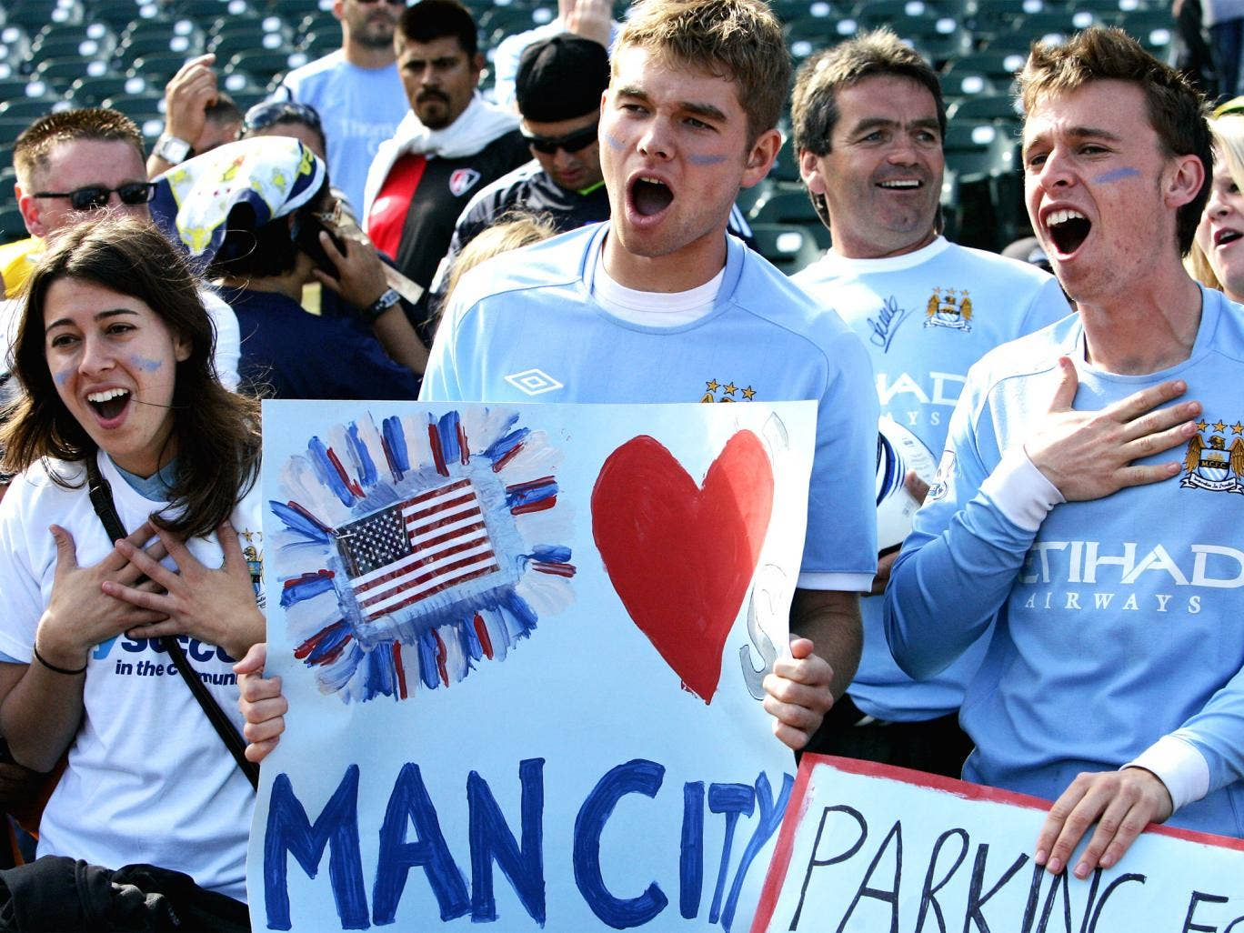 Fans in San Francisco are excited to see Manchester City play in a friendly match in 2011