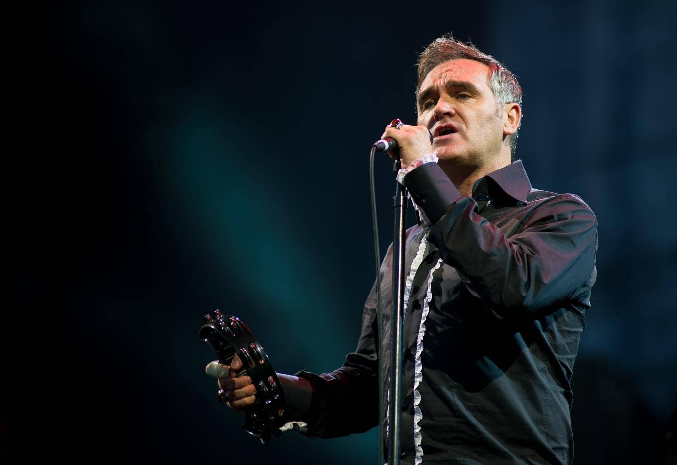 "Morrissey told a teen magazine: ""Homosexual men would never kill other men, whereas heterosexual men love killing other men."""