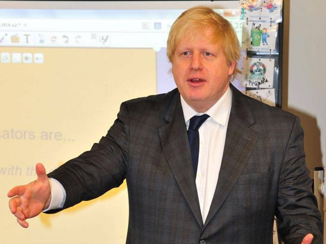 Boris Johnson (pictured) today stepped up the pressure on David Cameron over Europe