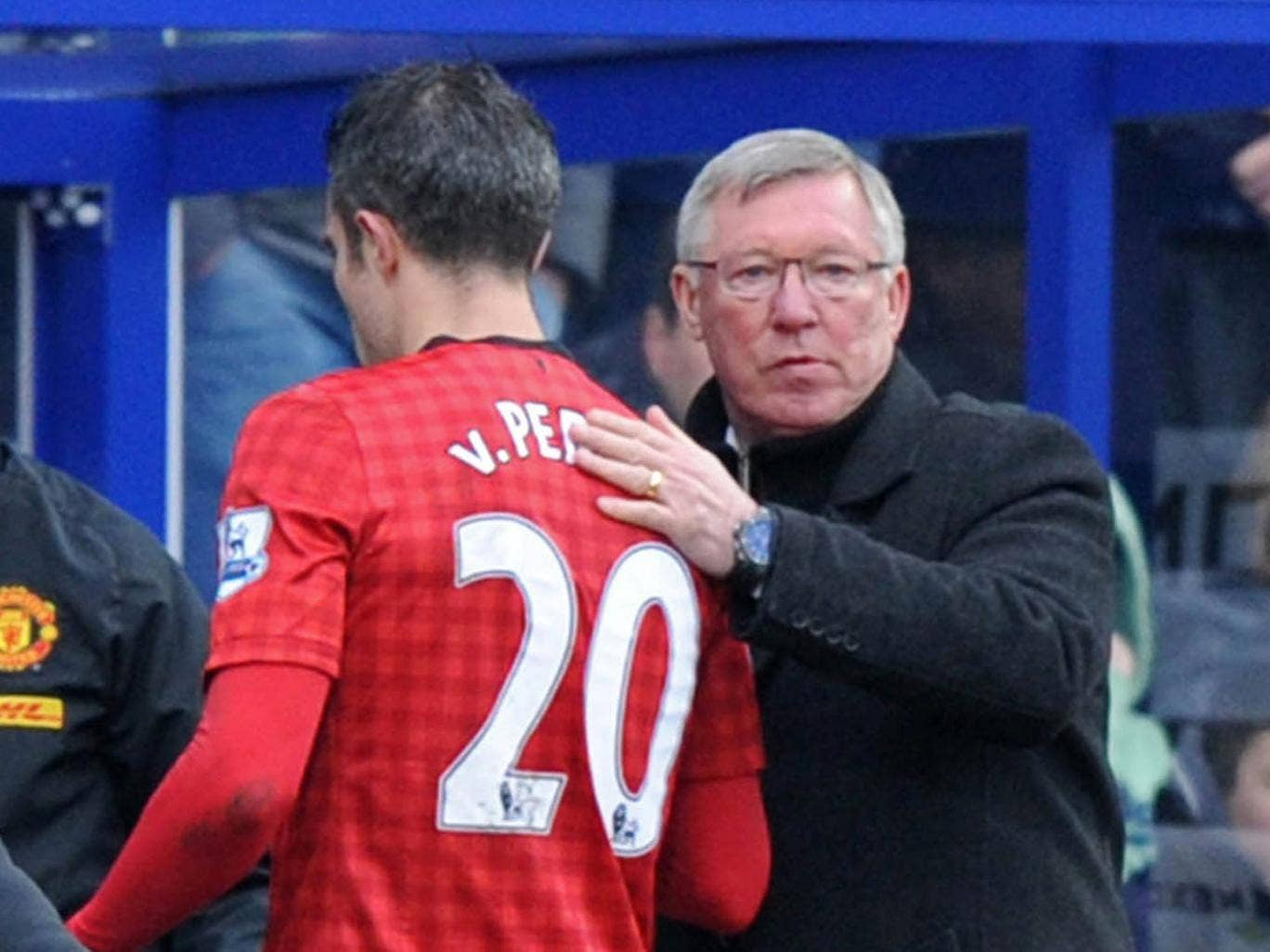 Robin van Persie was taken off against QPR