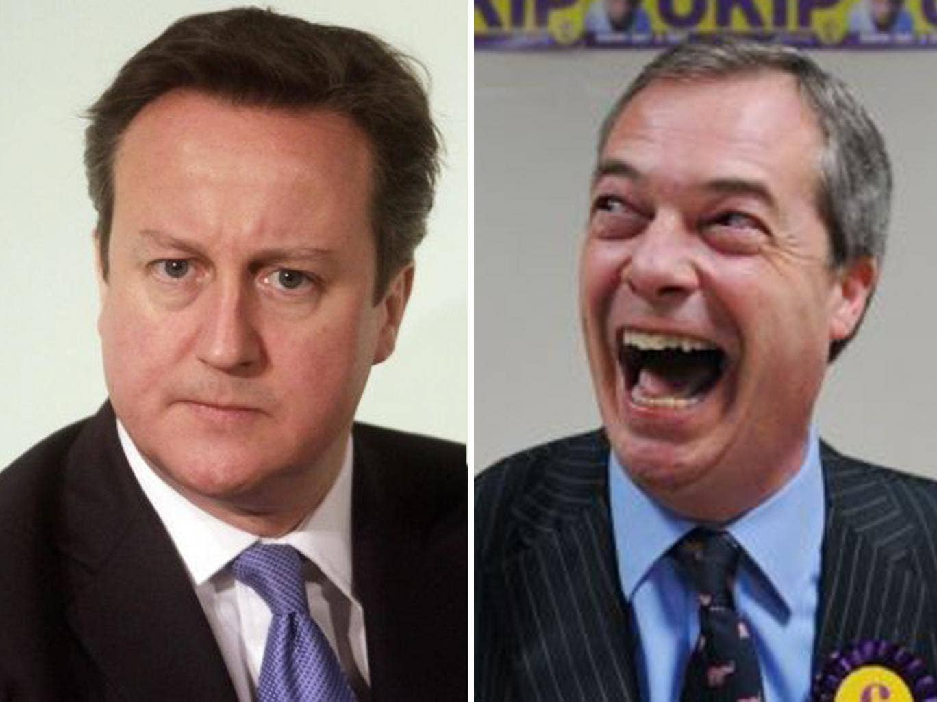 David Cameron was facing a backlash from hard line Tories today while Ukip leader Nigel Farage celebrated his party's candidate's second place spot in Eastleigh