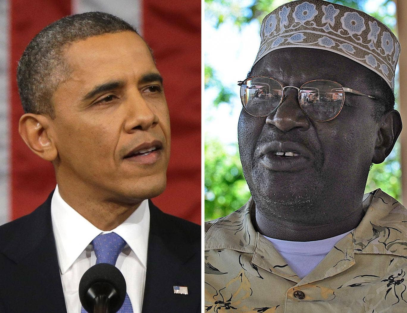 Malik Obama (right), half-brother of US President Barack Obama (left), is running for governor in a Kenyan county