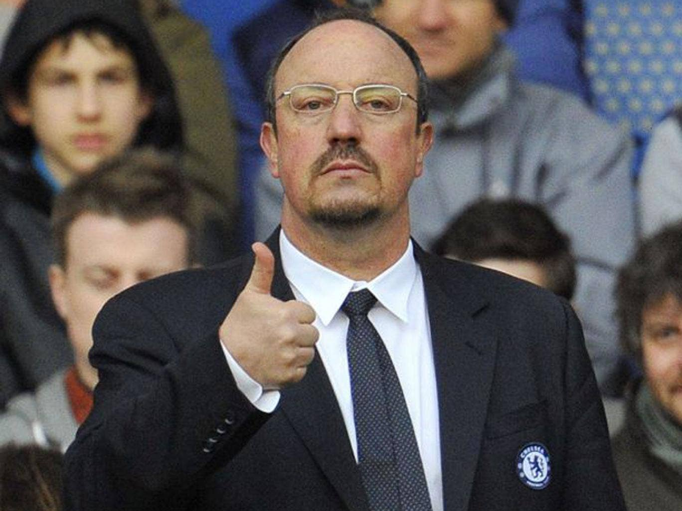 Thumbs up: Rafa Benitez gives his verdict on yesterday's 1-0 victory