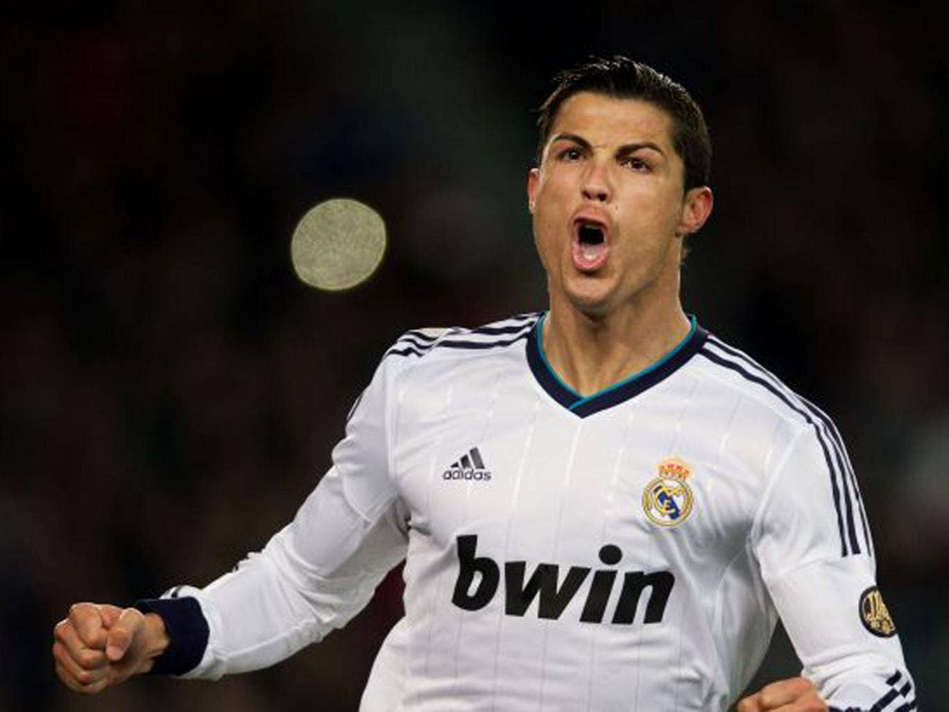 Ferguson must hope the same goes for Cristiano Ronaldo (above) – in every sense after the former United man's leap above Patrice Evra in the first game to equalise