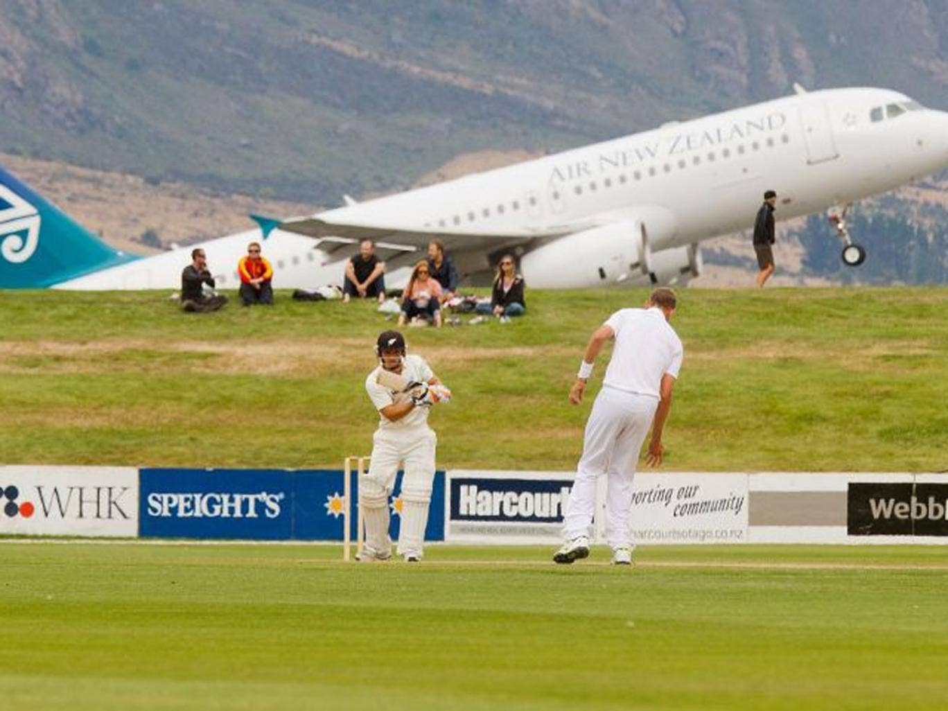 B J Watling on his way to an unbeaten 89 as a New Zealand XI beat England in Queenstown yesterday