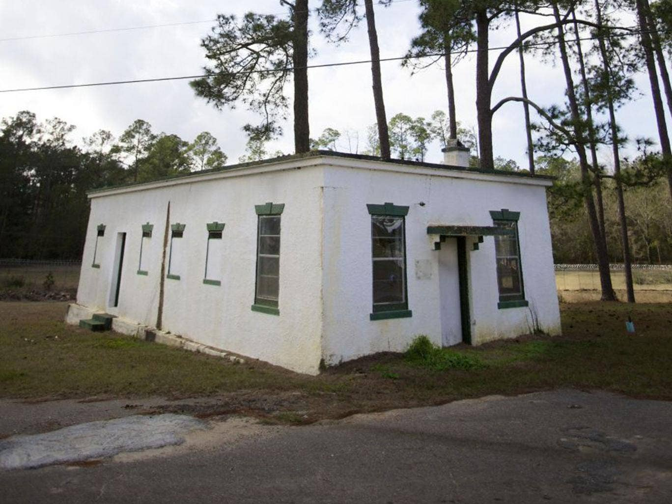 """A small building known as the """"White House"""" on the south campus that is alleged to be the site of decades of brutality for students at the Arthur G. Dozier School for Boys, in Marianna"""