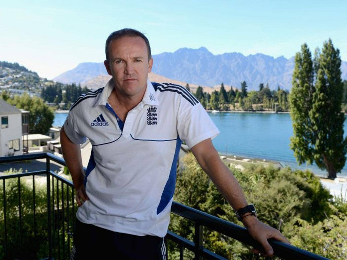 Andy Flower at England's team hotel yesterday