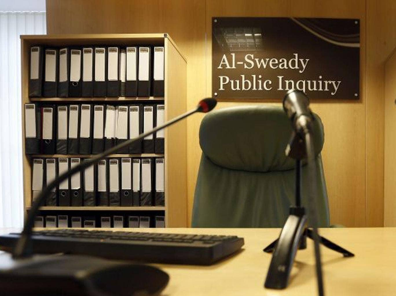 The venue of the Al-Sweady Inquiry is seen on the first day of the inquiry, in central London on 4 March 2013.