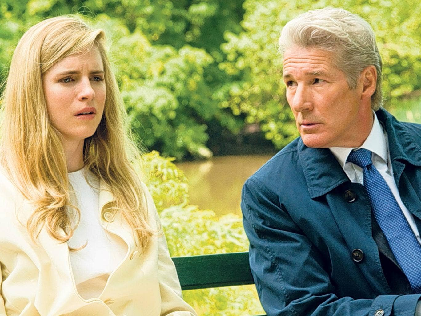 Family business: Richard Gere and Brit Marling play father and daughter in the drama ''Arbitrage'