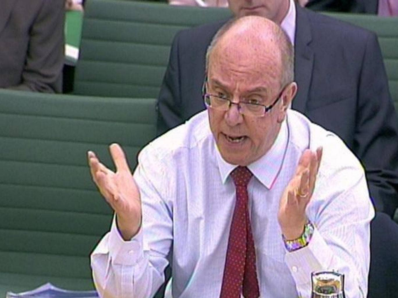 Sir David Nicholson, who has been facing calls for his resignation over the scandal, told the Health Select Committee that he was deeply, deeply saddened by reading the stories of patients who had been mistreated
