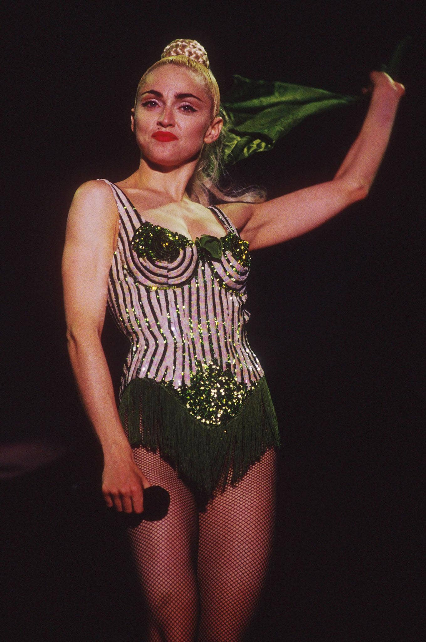 The couture corset designed by Jean Paul Gaultier for Madonna and worn by Madonna on the 1990 Blonde Ambition tour is to go on display in Barbican.