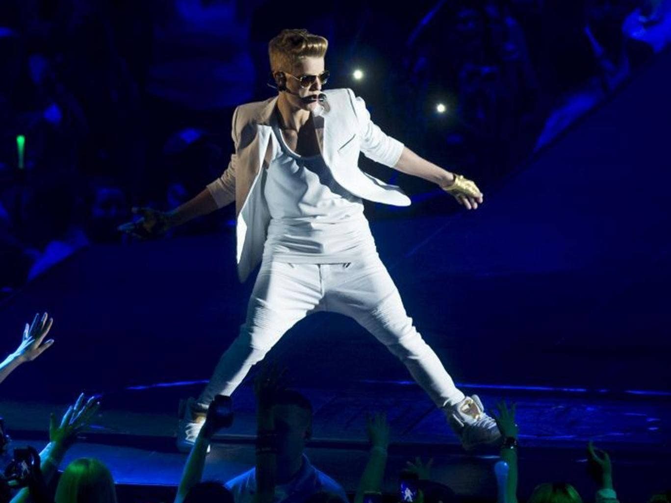 Just Bieber performs at the 02 in London after arriving on stage two hours later than scheduled