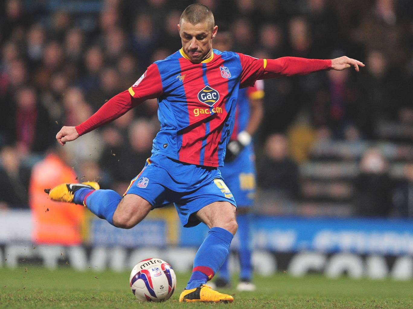 Kevin Phillips of Crystal Palace scores his first goal from the penalty spot