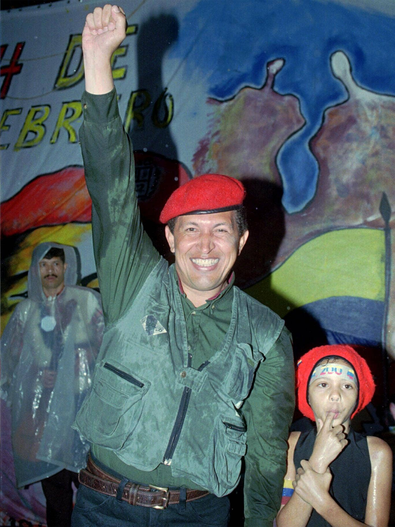 Chavez in 1997, marking the anniversary of his failed coup attempt in 1992