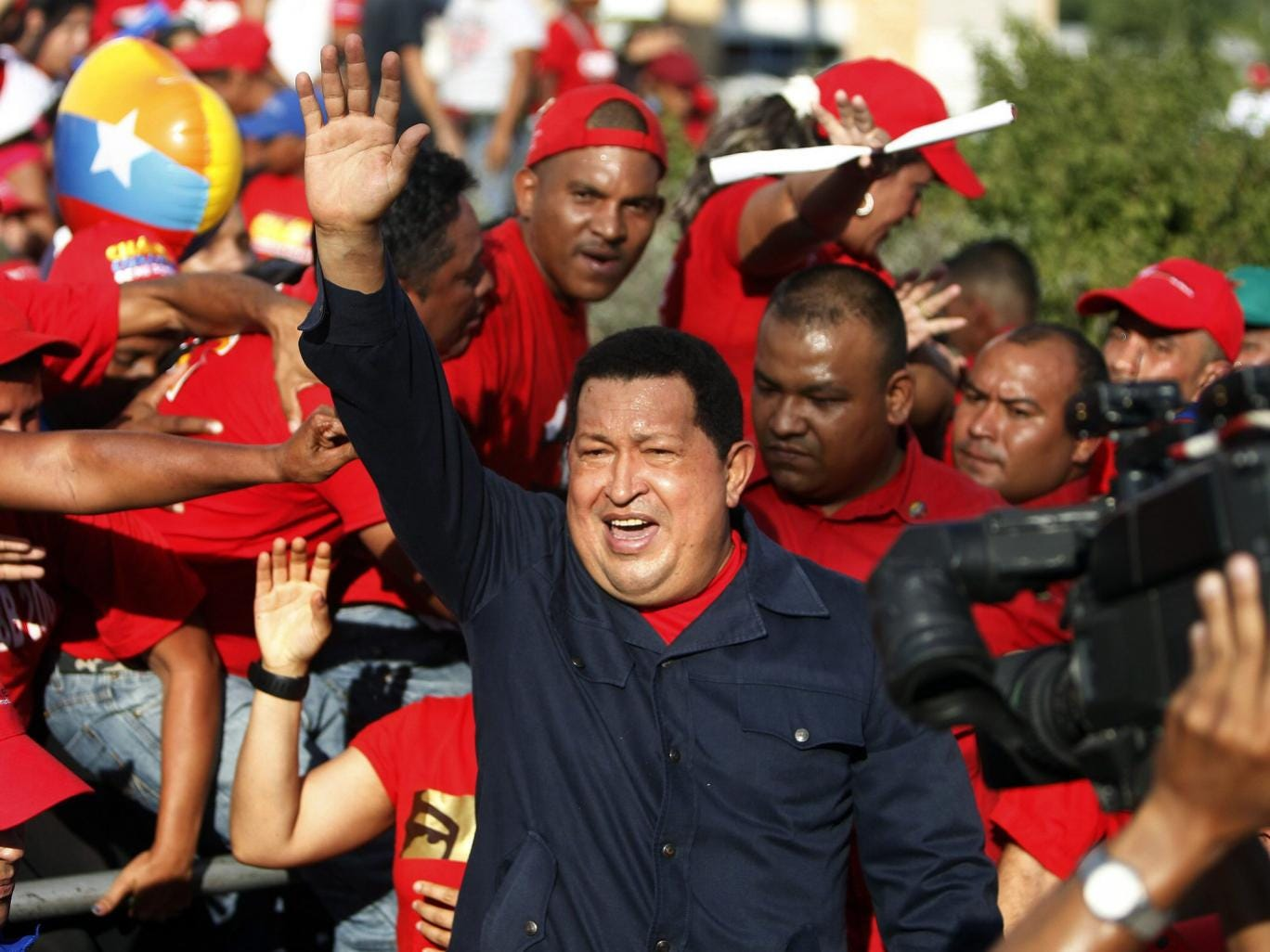 Chavez at an electoral event in Charallave, Venezuela, last September
