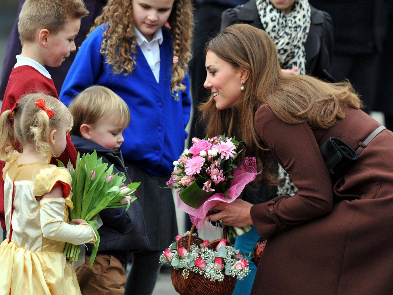 The Duchess of Cambridge may have let slip that she is expecting a daughter, while chatting to crowds during her latest official engagement, it has been reported