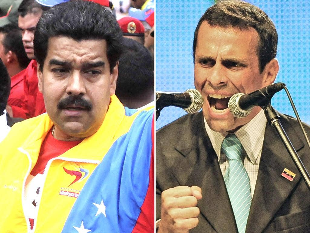 Interim President Nicolas Maduro; Henrique Capriles is the most likely choice to challenge Maduro in a snap election