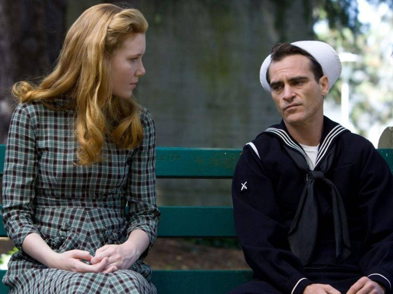 Joaquin Phoenix (left) and Amy Adams in The Master