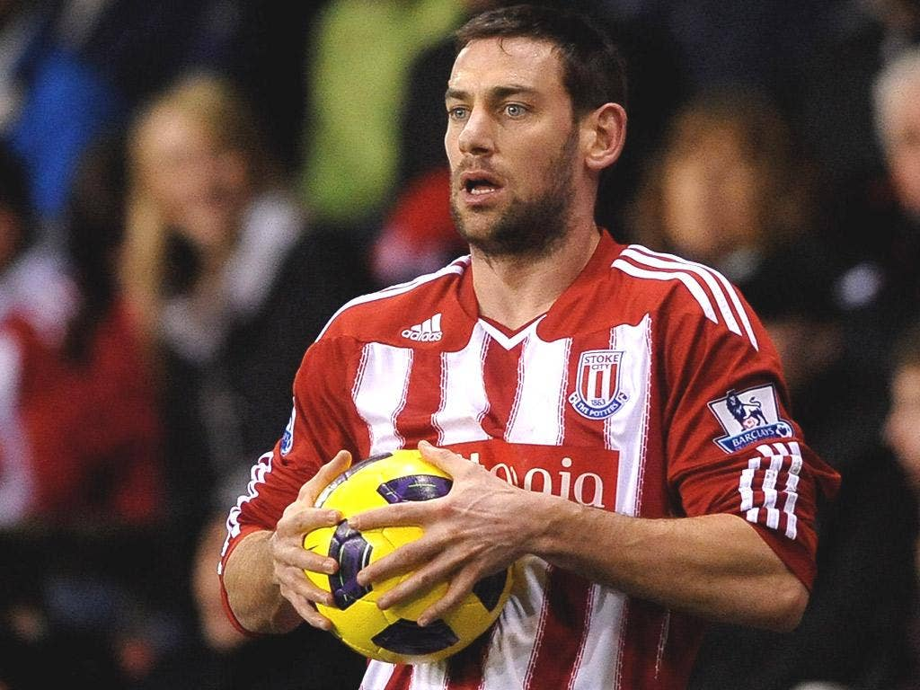 Rory Delap is on loan from Stoke City