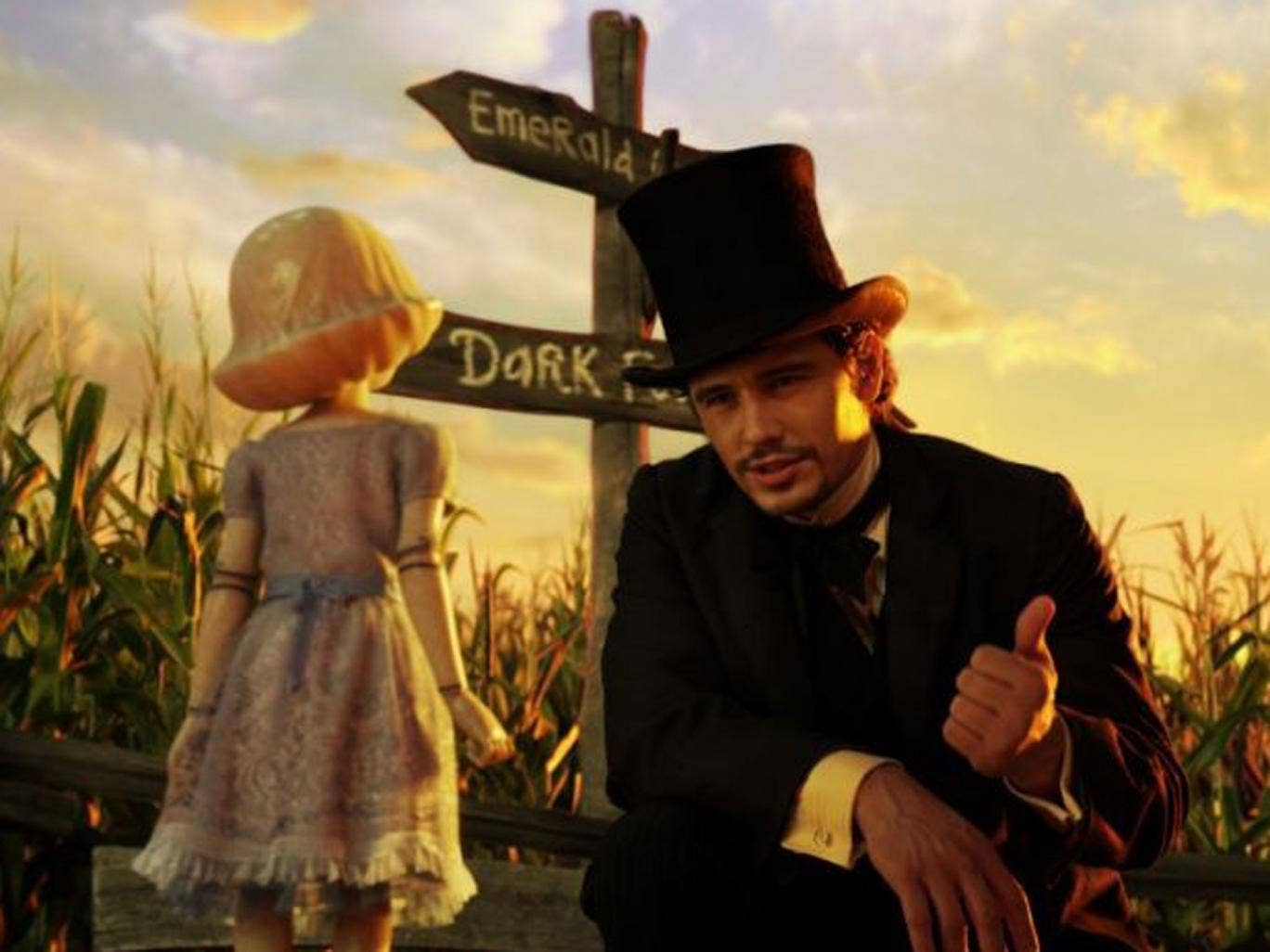 Goodbye Kansas: James Franco charms the locals in Oz the Great and Powerful