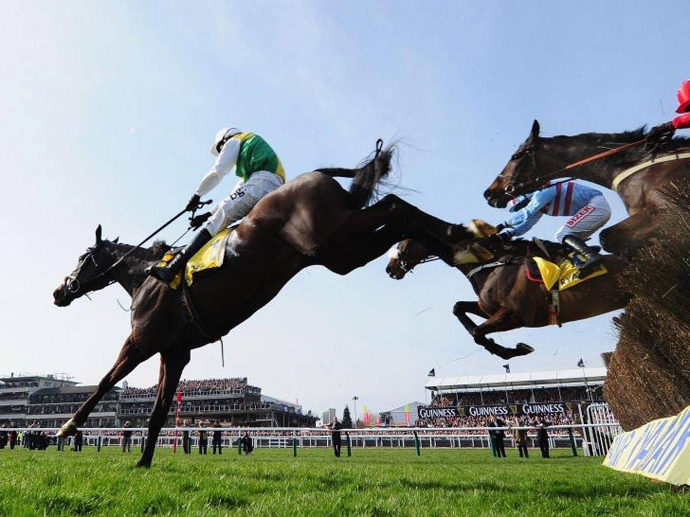 For the high jump?: Sponsors are beginning to wonder about the toxicity of the Festival and Grand National
