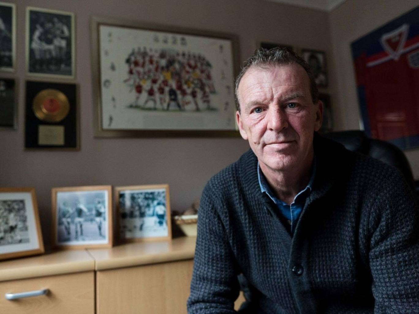 Writing on the wall: 'I'm still on the lookout, I want something to happen and I've applied for so many jobs, so many jobs,' says Graham Rix
