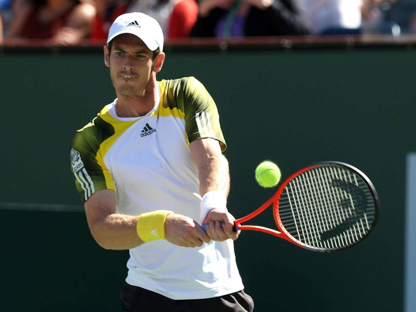 Andy Murray in action at Indian Wells