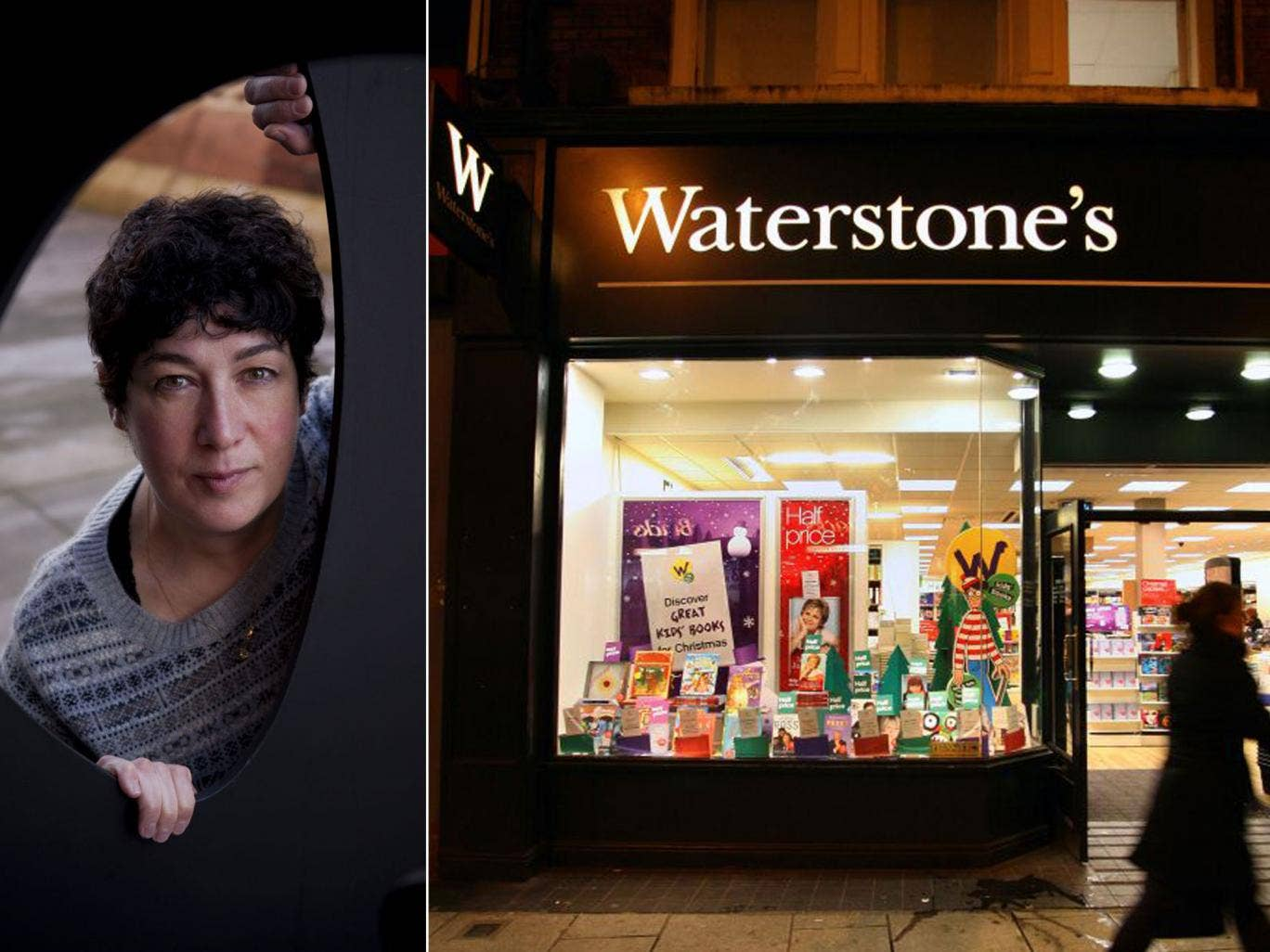 A Waterstone's store and Joanne Harris