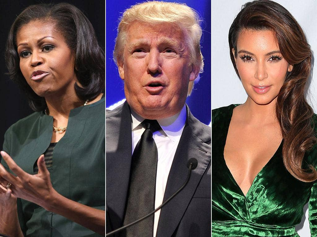 Michelle Obama, Donald Trump and Kim Kardashian are among the victims