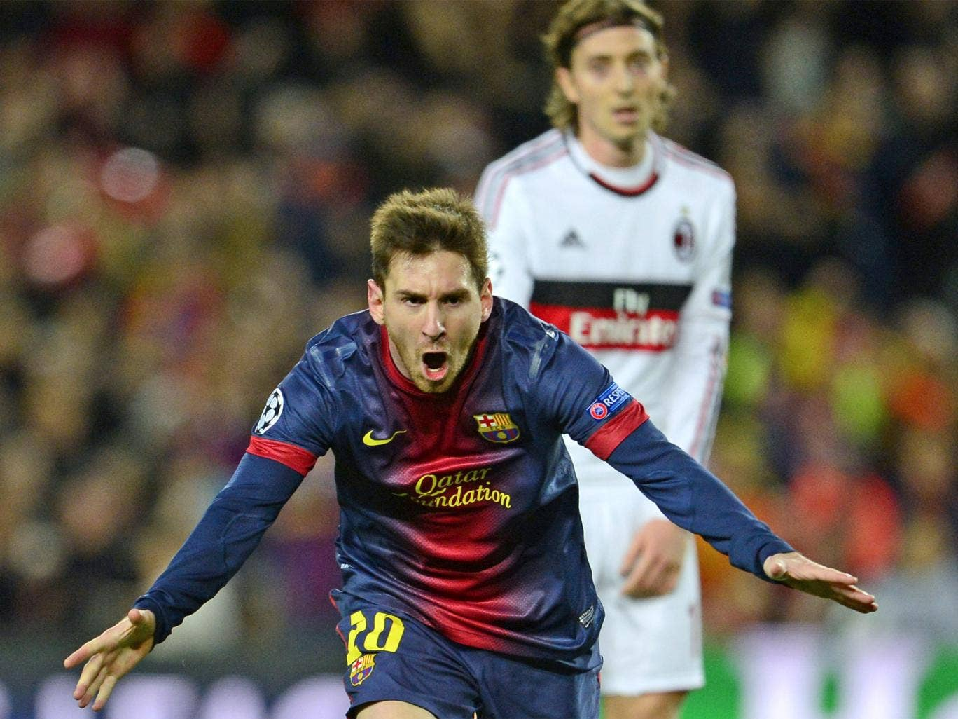 Messi made up for a disappointing showing at the San Siro by lighting up the Nou Camp