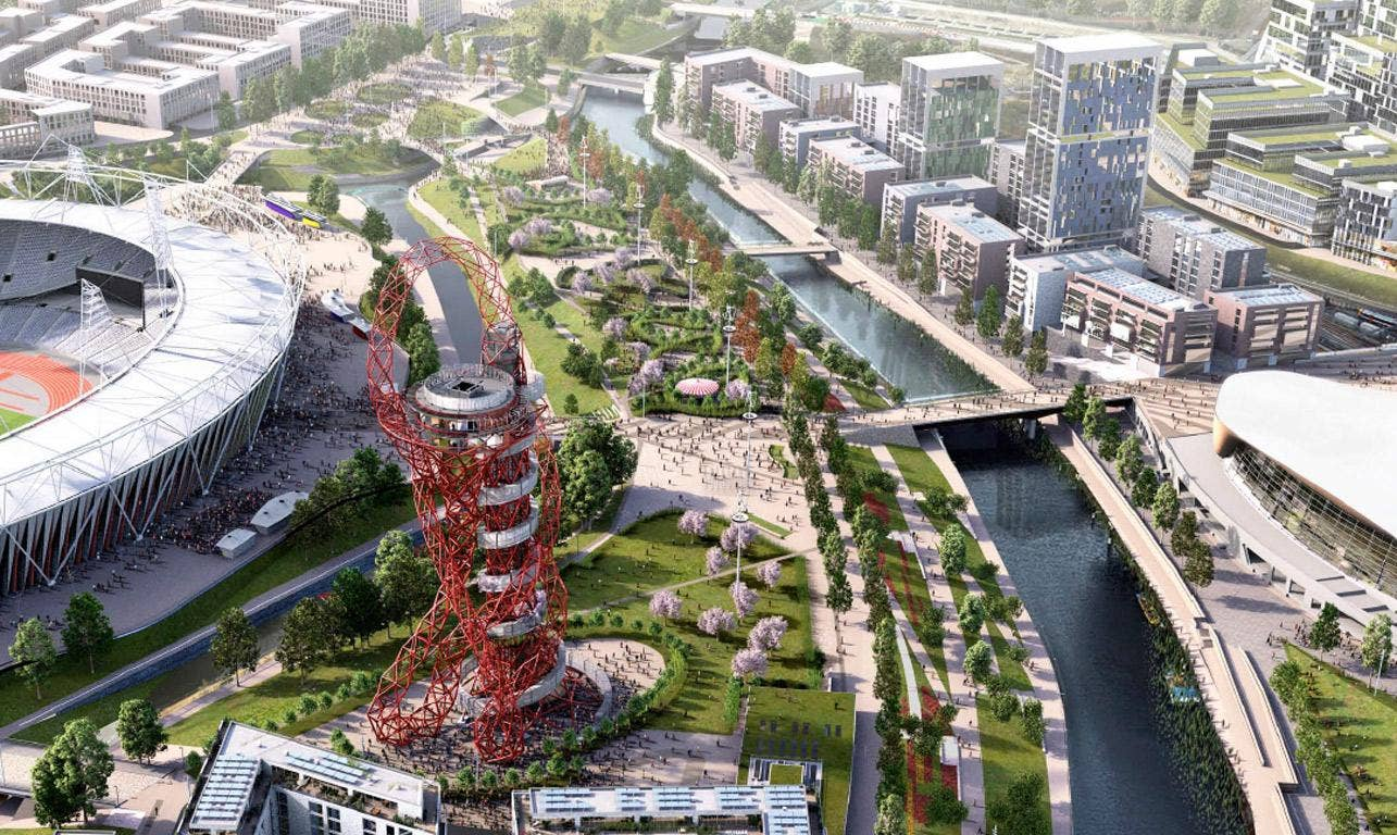 Green vision: the Queen Elizabeth Olympic Park will have tree-lined boulevards