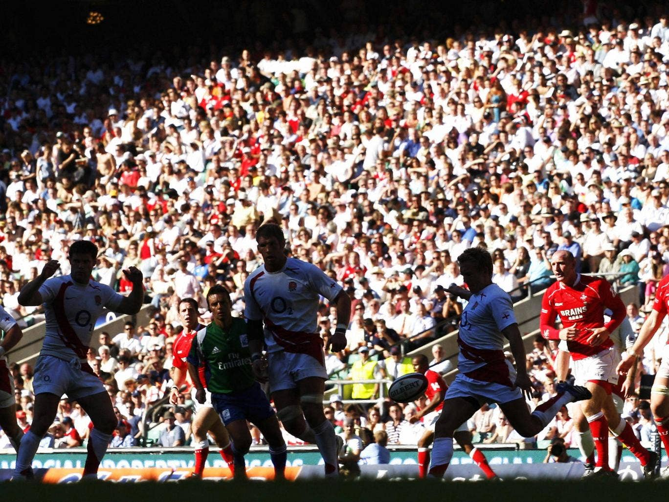 England beat Wales 62-5 in a 2007 World Cup warm-up game