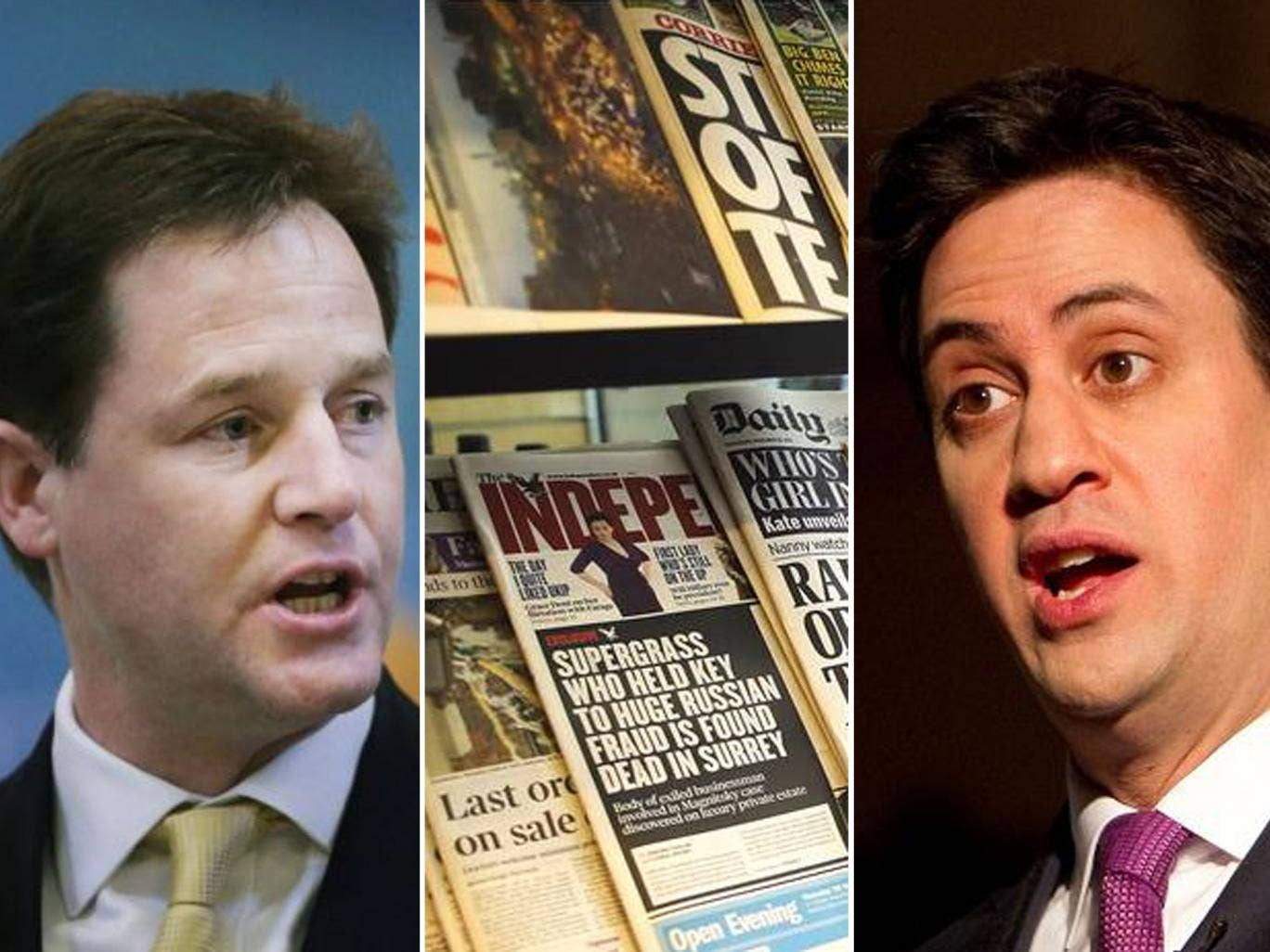 Deputy Prime Minister Nick Clegg said the blueprint he had drawn up with Labour leader Ed Miliband represented a 'strengthened version' of earlier proposals set out last month by the Conservatives