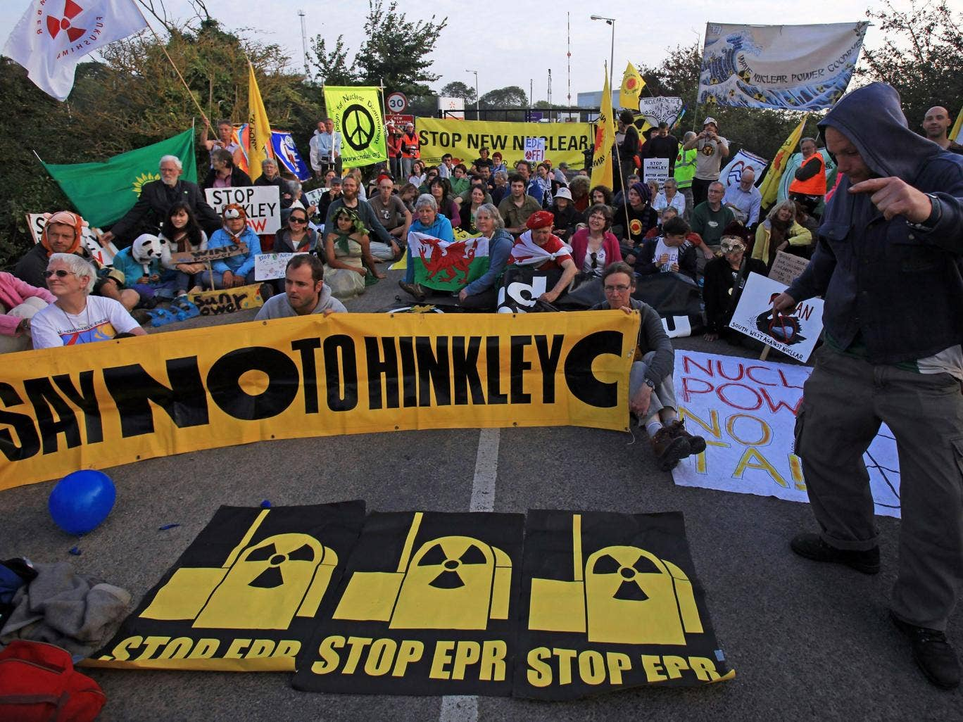 Reaction time: Protesters at Hinkley Point
