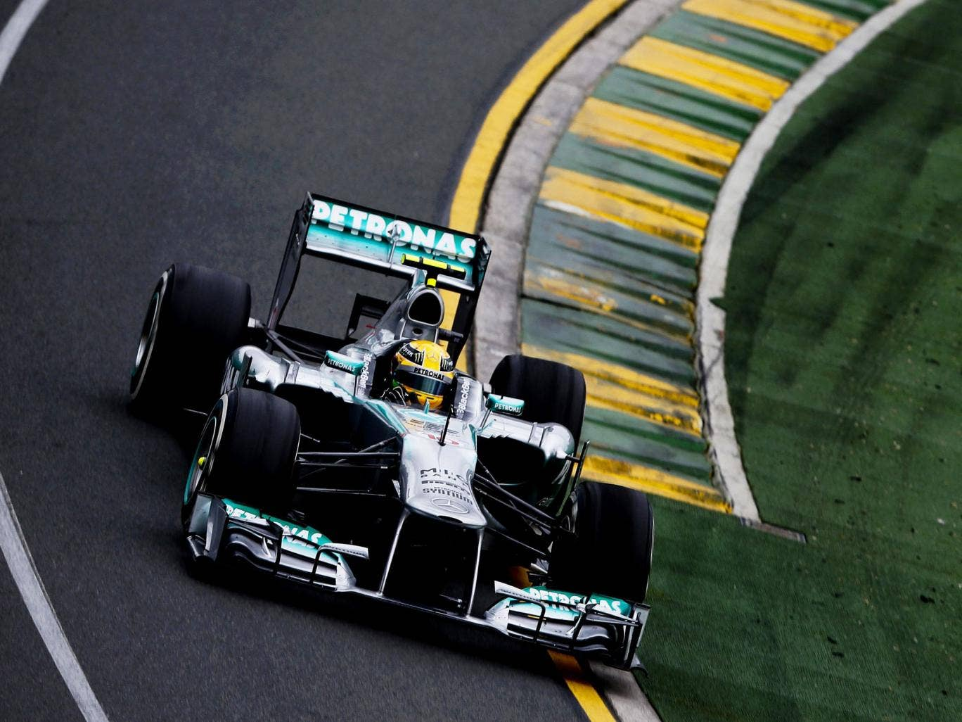 Lewis Hamilton was happy with finishing fifth on his Mercedes debut