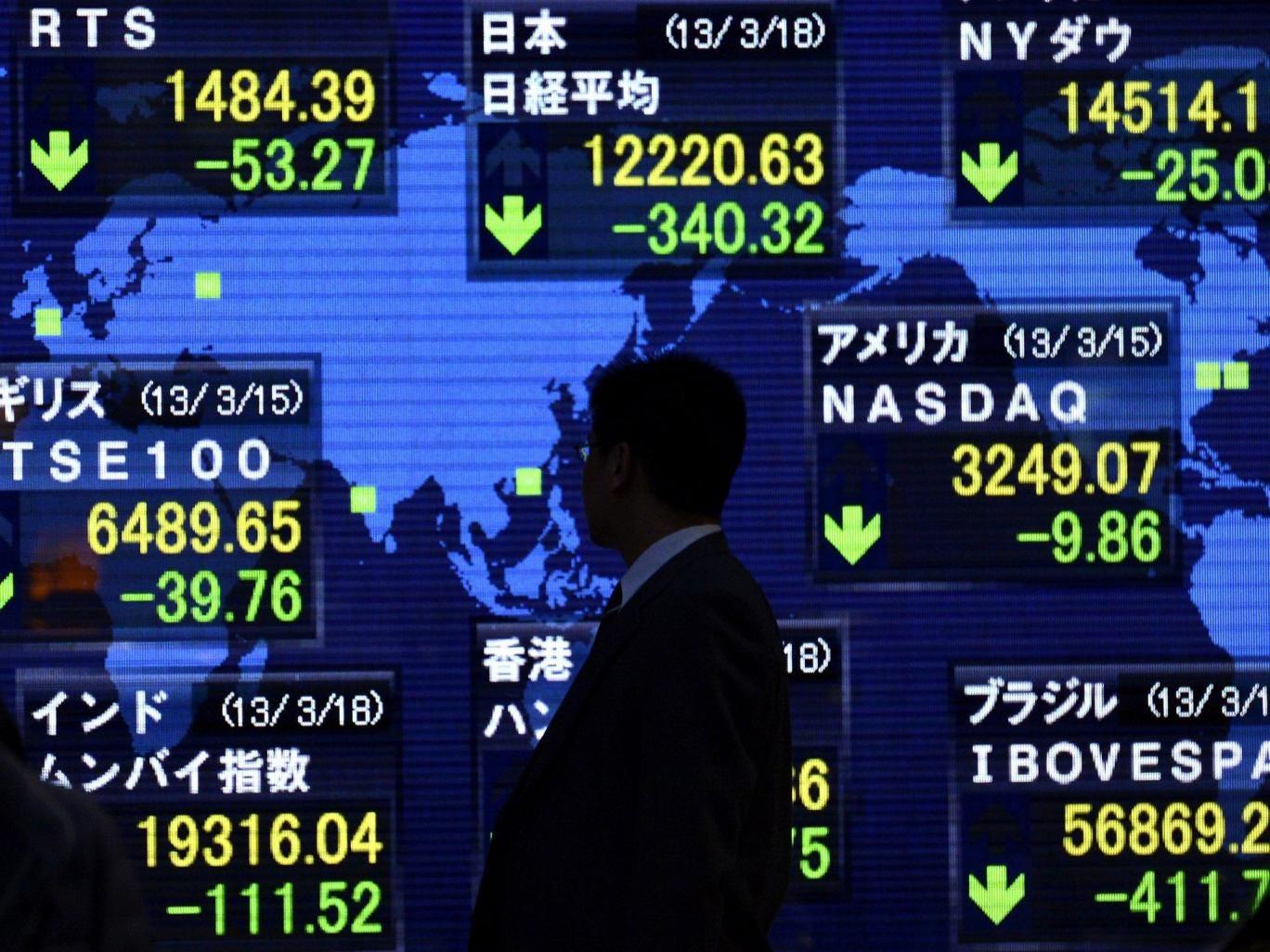 A stock markets indicator board