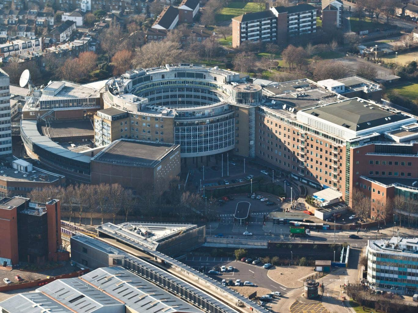 The soon-to-be-closed BBC Television Centre in Wood Lane